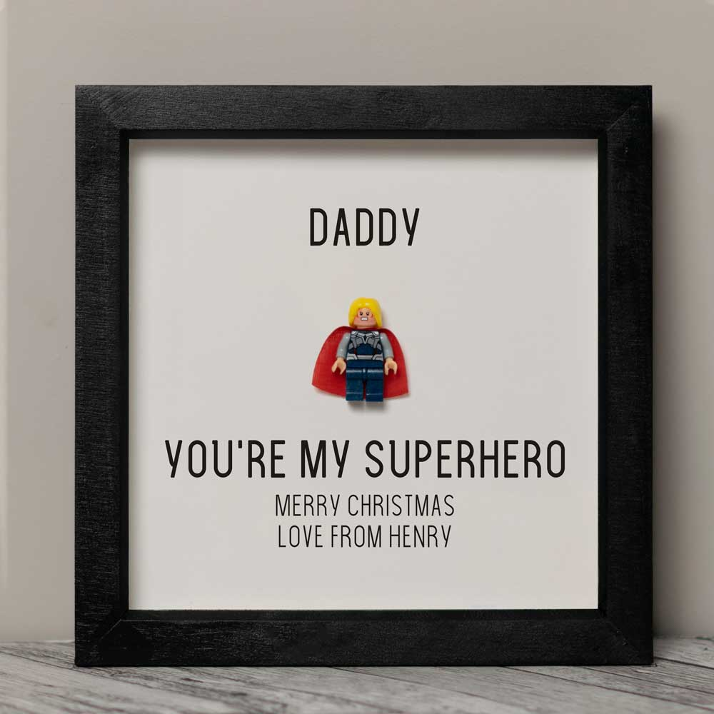 d8f7f4782 Personalised Lego Superhero Frame For Dad- Christmas Gift